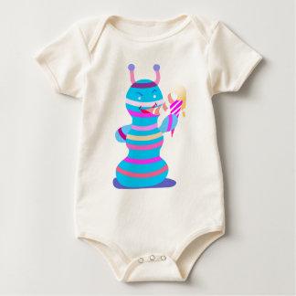 Spaceman eat the ice cream baby shirt