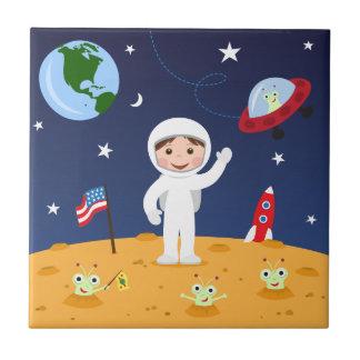 Spaceman on mars cute cartoon tile/gift box tile