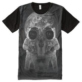 spaceman skull earth space illusion tshirt
