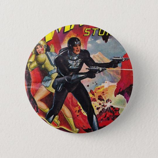 Spaceman with Two Rayguns 2 Inch Round Button