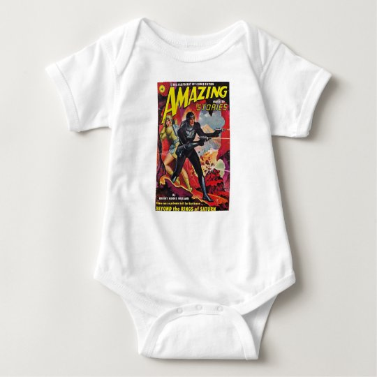 Spaceman with Two Rayguns Baby Bodysuit
