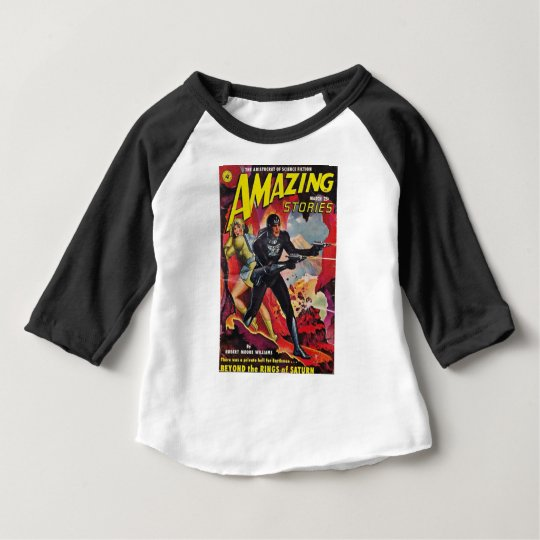 Spaceman with Two Rayguns Baby T-Shirt