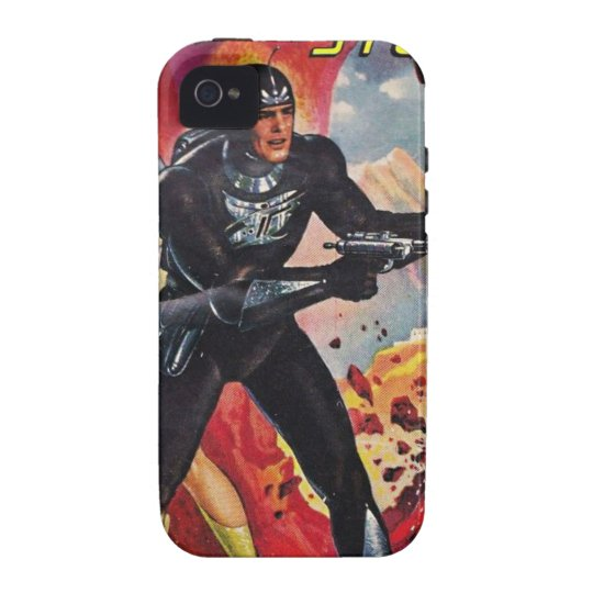 Spaceman with Two Rayguns Case-Mate iPhone 4 Cases