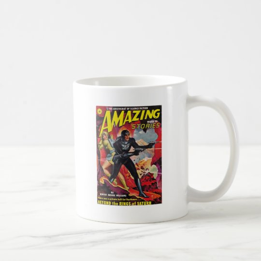 Spaceman with Two Rayguns Coffee Mug