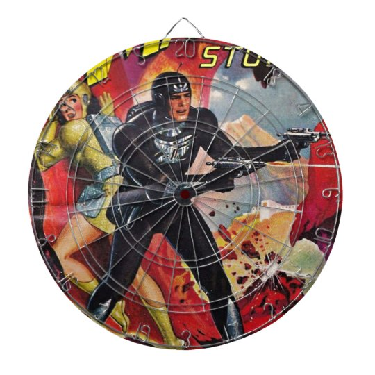 Spaceman with Two Rayguns Dartboard