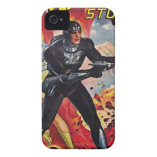 Spaceman with Two Rayguns iPhone 4 Cover