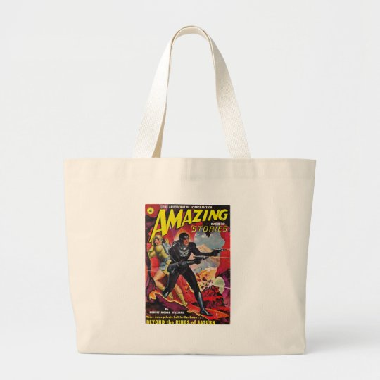 Spaceman with Two Rayguns Large Tote Bag
