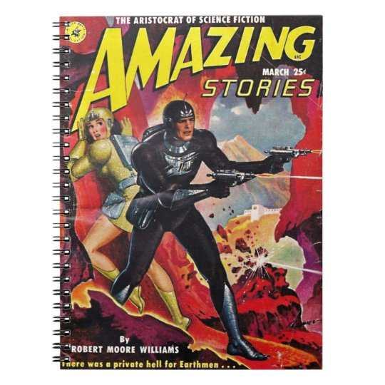 Spaceman with Two Rayguns Notebook