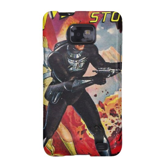Spaceman with Two Rayguns Samsung Galaxy SII Cover
