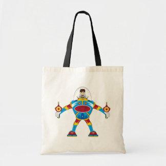 Spacemen In Giant Mecha Robot Canvas Bags