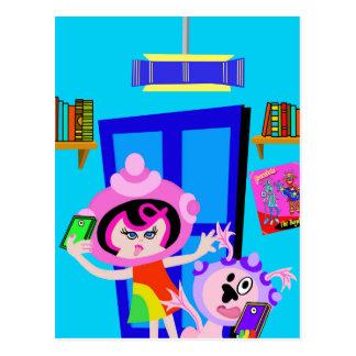 Spaceship Betty and Bubblegum Do a Selfie Post Card
