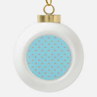 Spaceship Cartoon Pattern Drawing Ceramic Ball Christmas Ornament