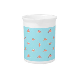 Spaceship Cartoon Pattern Drawing Pitcher