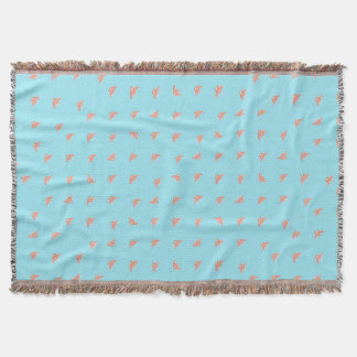 Spaceship Cartoon Pattern Drawing Throw Blanket