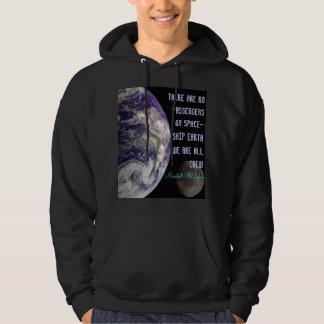 spaceship earth mens hoodie