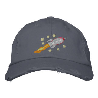 Spaceship Embroidered Hat
