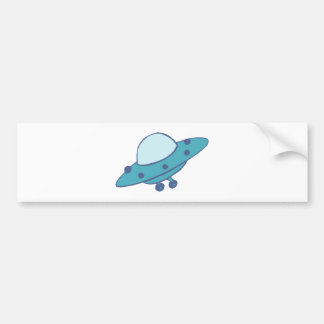 Spaceship flying saucer UFO Bumper Stickers