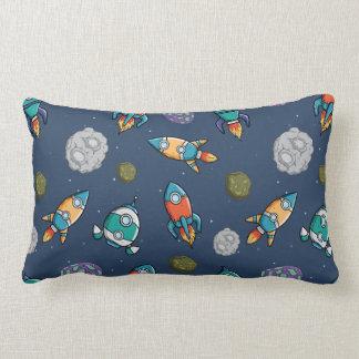 Spaceship Pattern throw pillows