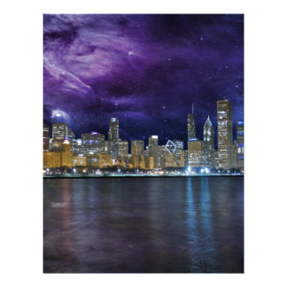 Spacey Chicago Skyline Custom Letterhead