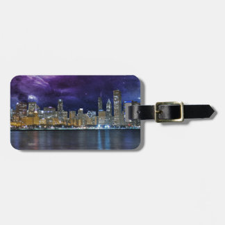 Spacey Chicago Skyline Luggage Tag