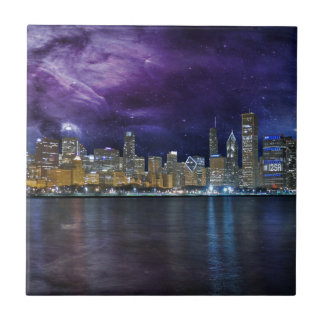 Spacey Chicago Skyline Tiles