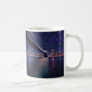 Spacey Manhattan Skyline Coffee Mug