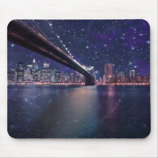 Spacey Manhattan Skyline Mouse Pad