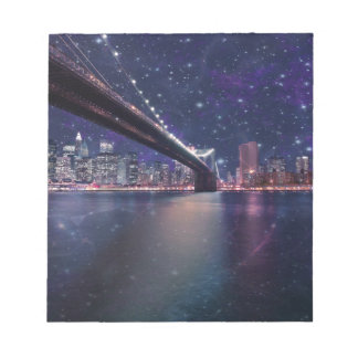 Spacey Manhattan Skyline Notepads