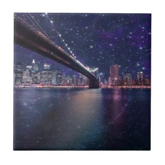 Spacey Manhattan Skyline Tiles