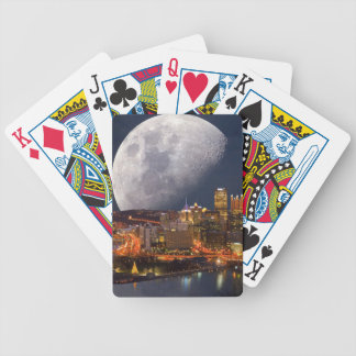 Spacey Pittsburgh Bicycle Playing Cards