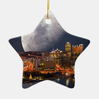 Spacey Pittsburgh Ceramic Star Ornament