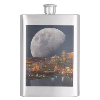 Spacey Pittsburgh Hip Flask