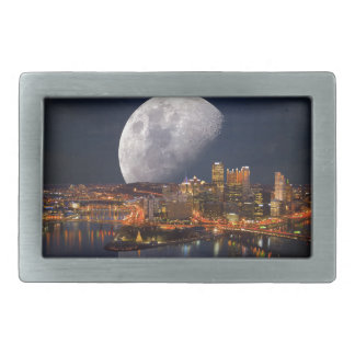 Spacey Pittsburgh Rectangular Belt Buckles