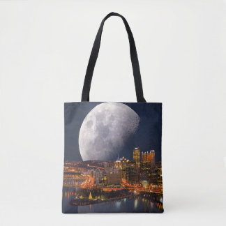 Spacey Pittsburgh Tote Bag