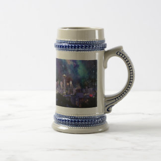 Spacey Seattle Beer Stein