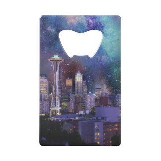 Spacey Seattle Credit Card Bottle Opener