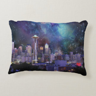 Spacey Seattle Decorative Pillow