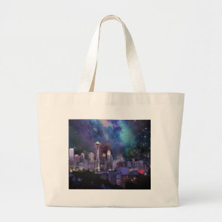 Spacey Seattle Large Tote Bag