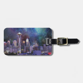 Spacey Seattle Luggage Tag