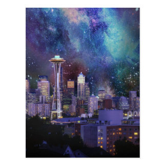 Spacey Seattle Postcard