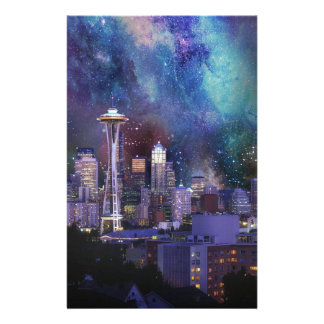 Spacey Seattle Stationery
