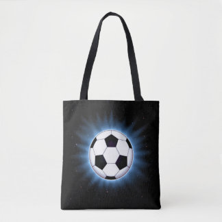 Spacey Soccer Ball All-Over-Print Tote Bag