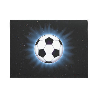 Spacey Soccer Ball Doormat
