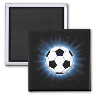 Spacey Soccer Ball Square Magnet