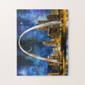 Spacey St. Louis Skyline Jigsaw Puzzle