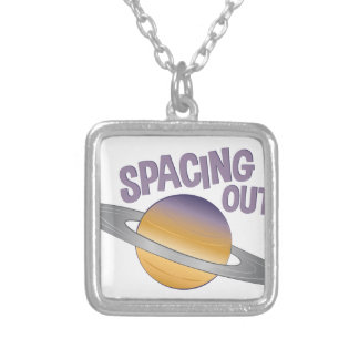 Spacing Out Silver Plated Necklace