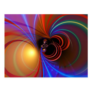 Spacy Abstract Postcard
