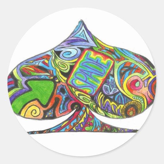 spade abstract sticker sheet