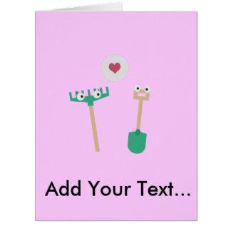 Spade and  Rake in love Big Greeting Card