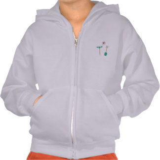Spade and  Rake in love Hooded Pullover